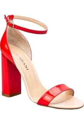 Cabani Bilekten Tokalı Günlük Kadın Ayakkabı Mercan Rugan