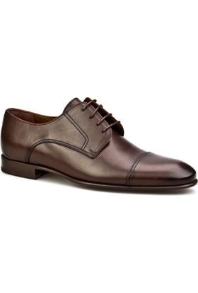 Cabani Bağcıklı Klasik Erkek Ayakkabı Kahve Sanetta Deri