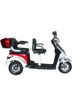 Kral Vesta 4500 Elektrikli 3 Kişilik Scooter Krmzı - Byz 2017