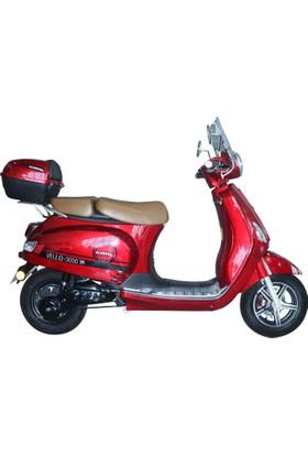 Kral Vello Elektrikli Scooter Kırmızı 2017