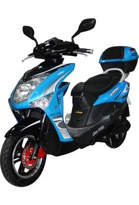Kral Lima Elektrikli Scooter Mavi - Siyah 2017
