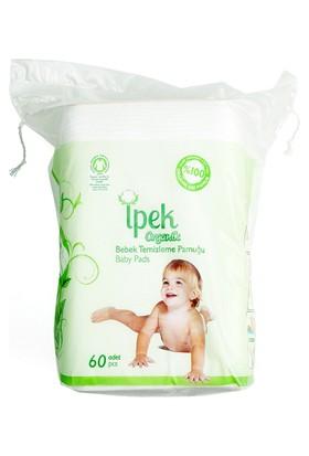 İpek Organik Bebek Temizleme Pamuğu 60 Adet