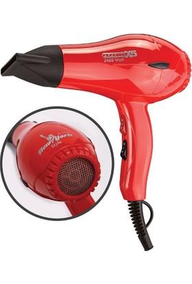 Hector Fön Makinası 3500 Turbo 2400 Watt New York Style Kırmızı Turbo X5
