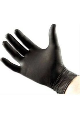 Tanaçan Eldiven Nitril Siyah Pudrasız Beybi 100 Adet Medium