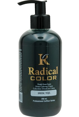 Radical Color Su Bazlı Saç Boyası Yeşil 250 Ml