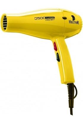 Hector Fön Makinası 3500 Turbo 2400 Watt Led Işıklı Sarı Renk