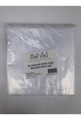 More For You Tek Kullanımlık Berber Önlüğü 50 Li More For You Kesim Penuarı