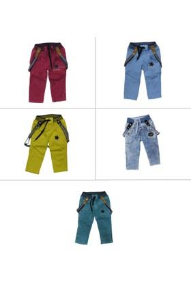 Leecouple Erkek Çocuk Lıkralı Askılı Pantolon