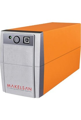Makelsan Lion+Plus 650 Va (Usb)/(5-10Dk) 1X12V/7Ah