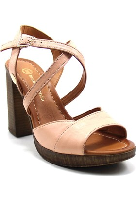 Mammamia 1650 Kadın Deri Sandalet