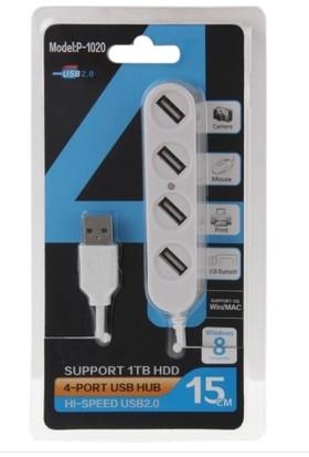 Platoon PL5704 USB 4 Port 2.0 Taşınabilir Hub 15Cm