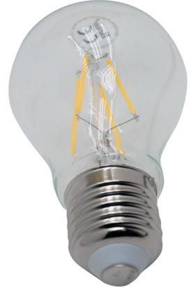 Benar A55 - 4W Led Filament Rustik Ampul (Sarı Işık) E27