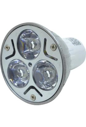 Yu-Ett 3W 220V Power Led Spot Ampul (Beyaz Işık) Gu10 Duylu