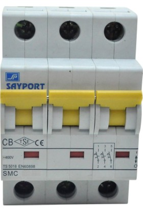 Sayport 63A (3X63A) C/3Ka Grup W Otomat