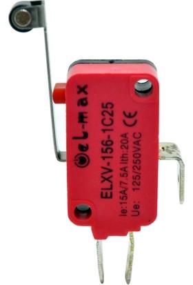 El-Max Xv-156-1C25 1N0+1Nc Uzun Palet Plastik Makaralı Mikro Swıtch