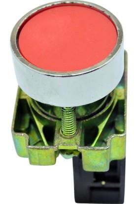 El-Max Lay5 (Db2) Ba42 Start-Stop Yaylı Buton Q22 1No (Kırmızı)