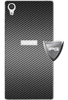 IPG Sony Xperia Z5 (Gümüş - Karbon Fiber) Arka Koruyucu