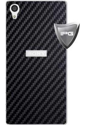 IPG Sony Xperia Z5 (Siyah - Karbon Fiber) Arka Koruyucu