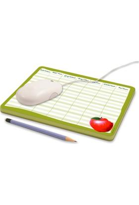 DirektAlKağıt Mouse Pad-Haftalık Planner (Sümen) Elma