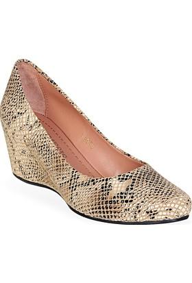 Nemesis Shoes Günlük Ayakkabı Bej Leopar Baskılı Deri