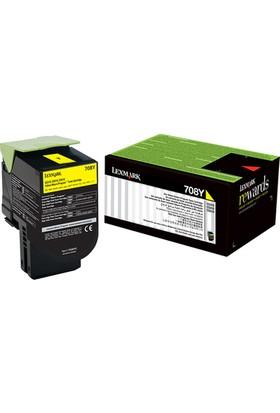 Lexmark 70C80Y0 708Y Sarı Toner Cs310/Cs410/Cs510 1.000 Sayfa