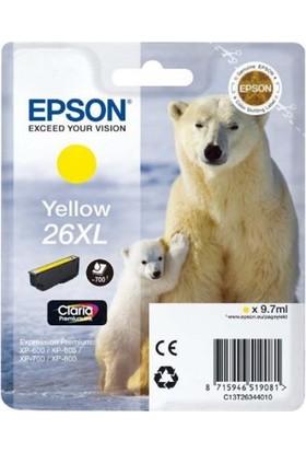 Epson 26Xl T263440 Sarı Kartuş Xp-600 / Xp-700 / Xp-800