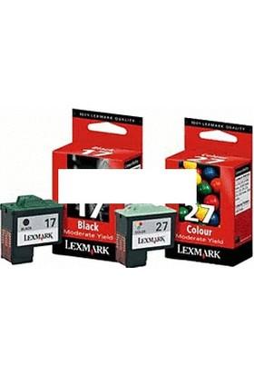 Lexmark 17 + 27 İkili Ekonomik Paket Kartuş - 10N0217 / 10N0227