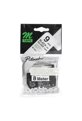 Brother M-921 Gümüş Üzeri Siyah P-Touch Etiket 9Mm Pt-55 / Pt-60 / Pt-65