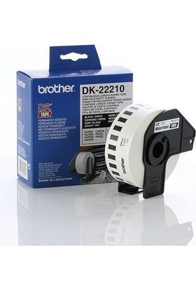 Brother Dk-22210 Beyaz Üzeri Siyah Sürekli Etiket 29Mm X 30.48M