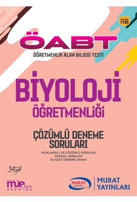 ÖABT Biyoloji Öğretmenliği Çözümlü 10 Deneme Soruları Murat Yayınları