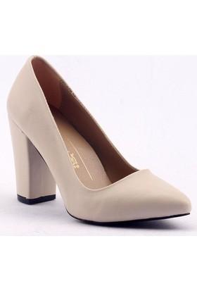 Mangom-Legend Kalın Topuk Cilt Bayan Ayakkabı