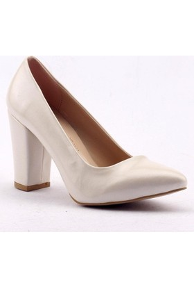 Paddy 2835 Kalın Topuk Bayan Cilt Ayakkabı