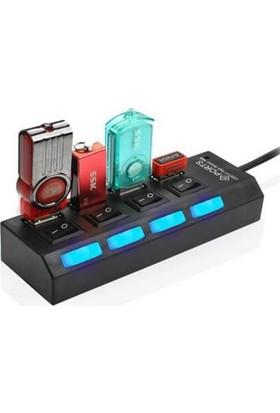 Alfais 4863 Usb Hub 4 Port Çoklayıcı Switch
