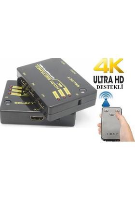 Alfais 4871 Hdmi Switch 3 Port Çoklayıcı 4K Ultra Hd Destekli