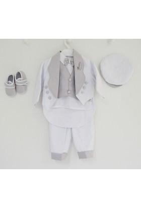 Bebetto A035 Bebek Mevlüt Takımı - Beyaz Gri