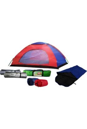 Bilge 2 Kişilik Kamp Seti (1 Çadır + 2 Uyku Tulumu + 2 Mat)