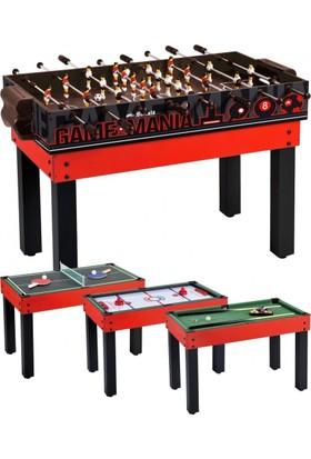 Pusula Oyun Aile Boyu Çoklu Oyun Masası (Langırt Masası, Air Hokey, Bilardo Ve Masa Tenisi) 4'Ü 1 Arada