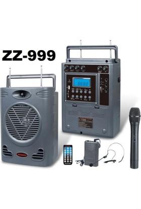 Jameson Zz-999 Taşınabilir Kablosuz Pa Amplifikatör Hoparlör