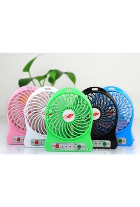 Portable Şarjlı Masaüstü Fan - Pembe Masaüstü Fan