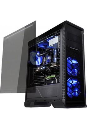 Xigmatek Xigmatek Frontliner En8774 Siyah Usb 3.0 Tam Boy Pencereli+ 3 Adet 12Cm Mavi Led Fanlı Atx Kasa