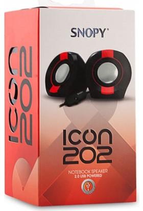 Snopy Icon202 2.0 2W Rms Siyah/Mavi Speaker
