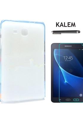 Serhan Samsung T350 8 İnç Tablet Süper Şeffaf Silikon Kılıf+Kalem+9H Kırılmaz Cam