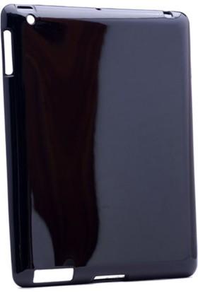 Serhan Apple iPad New 9.7 2017 Tablet Süper Siyah Silikon Kılıf+Kalem