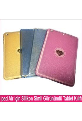 Serhan Apple iPad Pro 9.7 Tablet Süper Şeffaf Simli Silikon Kılıf+Kalem