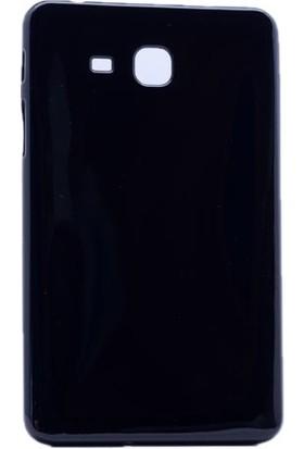 Serhan Samsung T580 T585 10.1 İnç Kalemsiz Model Tablet Süper Siyah Silikon Kılıf+Kalem