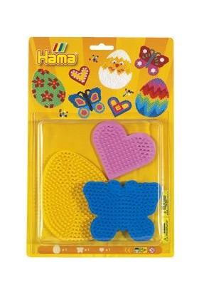 Hama Beads Midi Boncuk Tablası - Kalp, Kelebek, Yumurta
