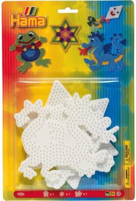 Hama Beads Midi Boncuk Tablası - Kurbağa, Ejderha, Yıldız