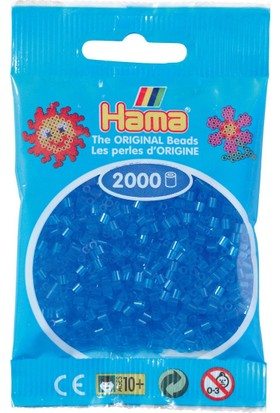 Hama Beads 2.000'lik Hama Mini Boncuk - Şeffaf Mavi