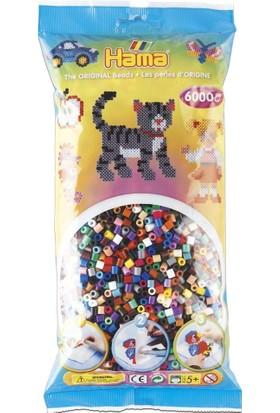 Hama Beads 6.000'lik Poşet Hama Midi Boncuk - 22 Renk