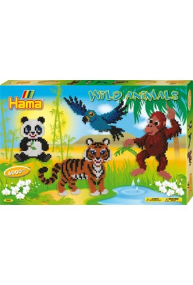 Hama Beads Boncuk Kutu - Vahşi Doğa